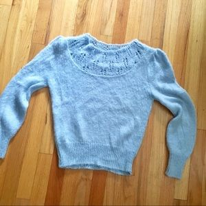 Vintage extra soft light blue sweater